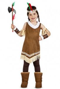 Disfraz de india mohicana niña