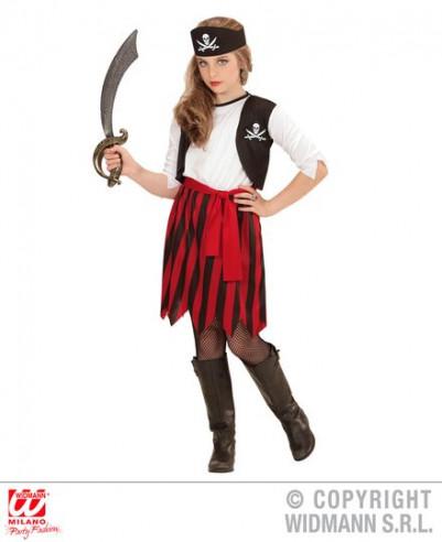 Disfraz pirata niña barato