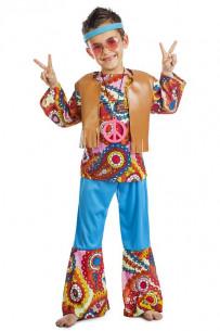 Disfraz hippie niño Peace &...