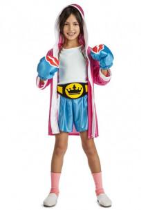 Disfraz boxeadora niña