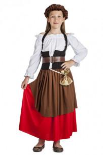 Disfraz mesonera medieval niña