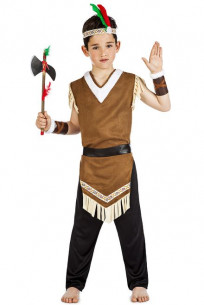 Disfraz indio mohicano niño