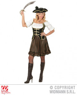 Disfraz capitán pirata mujer