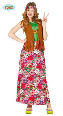 Disfraz hippie mujer barato