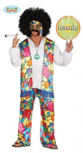 Disfraz flower power hombre