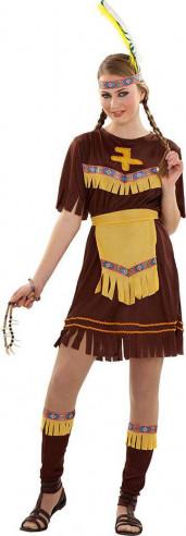 Disfraz india mujer marrón