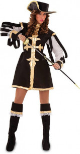 Disfraz mosquetera negra
