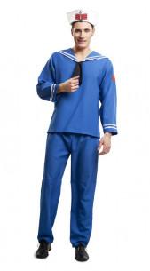 Disfraz de marinero azul