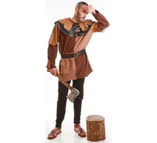 Disfraz leñador medieval