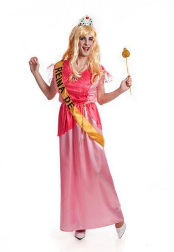 Disfraz princesa rosa para hombre