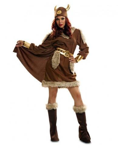 Disfraz de vikinga con capa