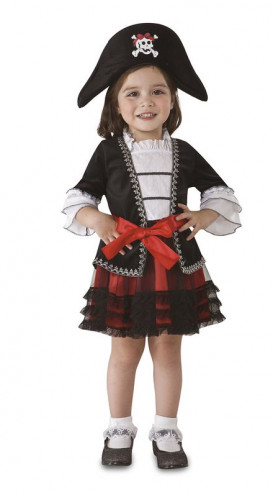 Disfraz de pirata niña con calavera