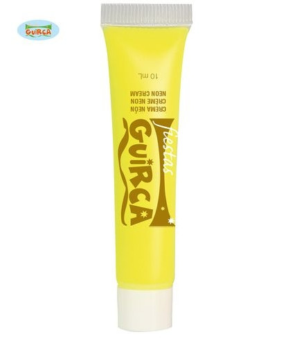 Tubo de crema de maquillaje amarilla