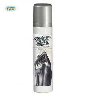 Maquillaje en spray plateado