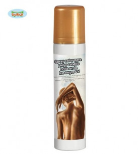 Maquillaje en spray dorado