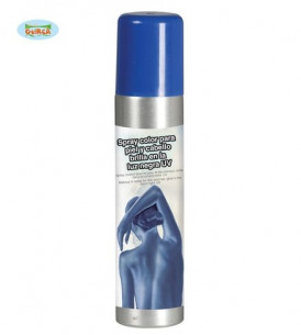 Maquillaje en spray azul