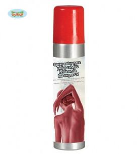 Maquillaje en spray rojo
