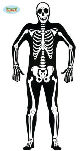Disfraz de esqueleto elástico