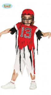 Disfraz de zombie rugby niño