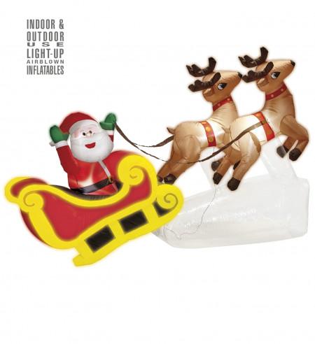 Trineo Papa Noel hinchable