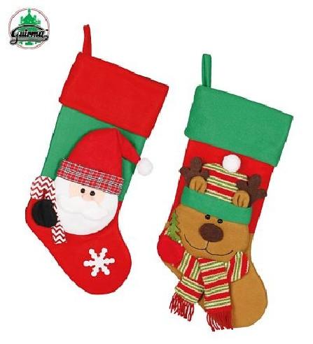 Bota Papa Noel decorativa