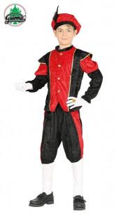 Disfraz paje niño rojo