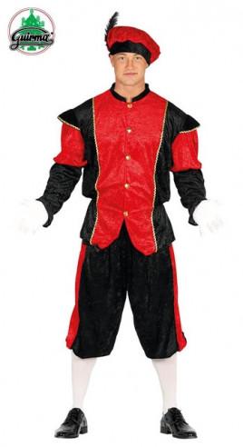 Disfraz paje real rojo