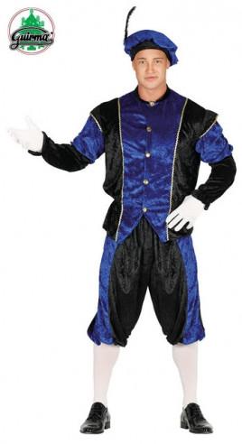 Disfraz paje real azul
