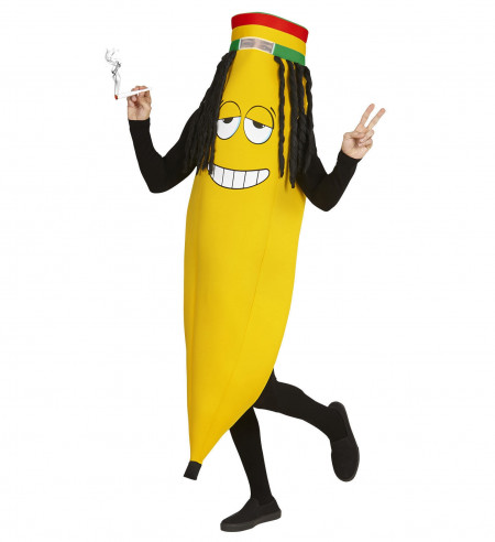 Disfraz plátano hippie