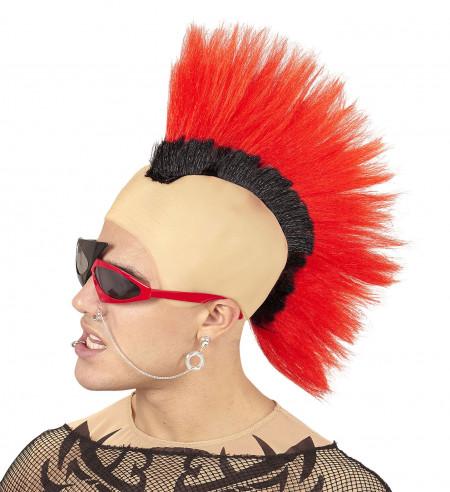 Cresta punky roja