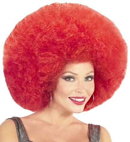 Peluca afro roja