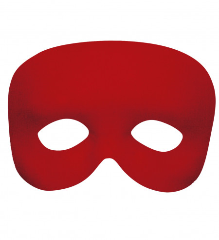 Máscara clásica roja