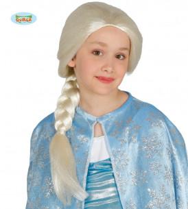 Peluca Frozen niña