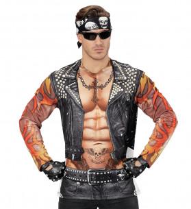 Disfraz rockero segunda piel