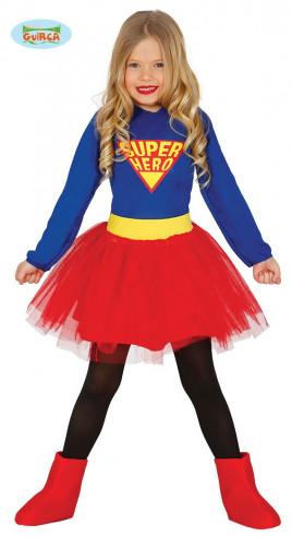 Disfraz vestido superheroina niña
