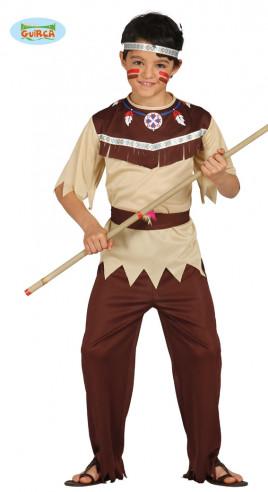 Disfraz beige de indio para niño