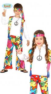 Disfraz hippie infantil barato