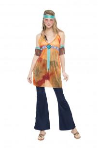Disfraz hippie para mujer...