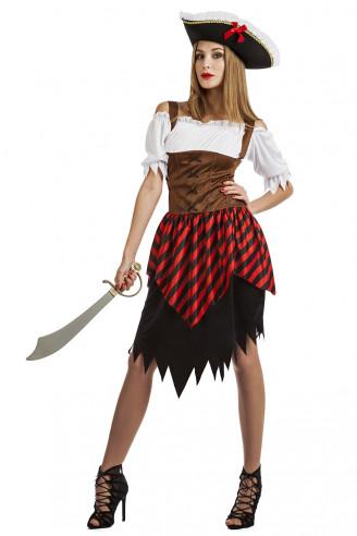 Disfraz pirata mujer barato