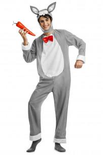 Disfraz conejo gris adulto