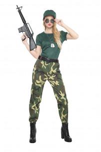 Disfraz militar para mujer