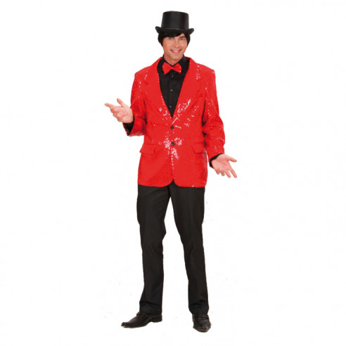 Disfraz Chaqueta Lentejuelas Rojo