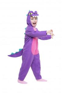 Disfraz dinosaurio lila niño