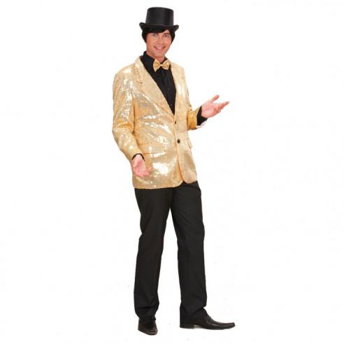 Disfraz Chaqueta Lentejuelas Oro