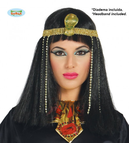 Peluca egipcia lujo