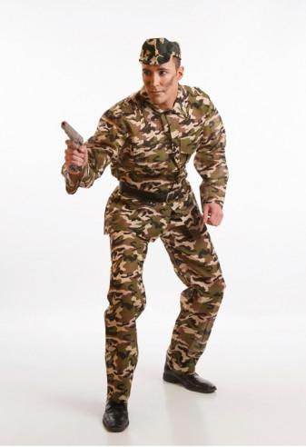 Disfraz de militar para adulto