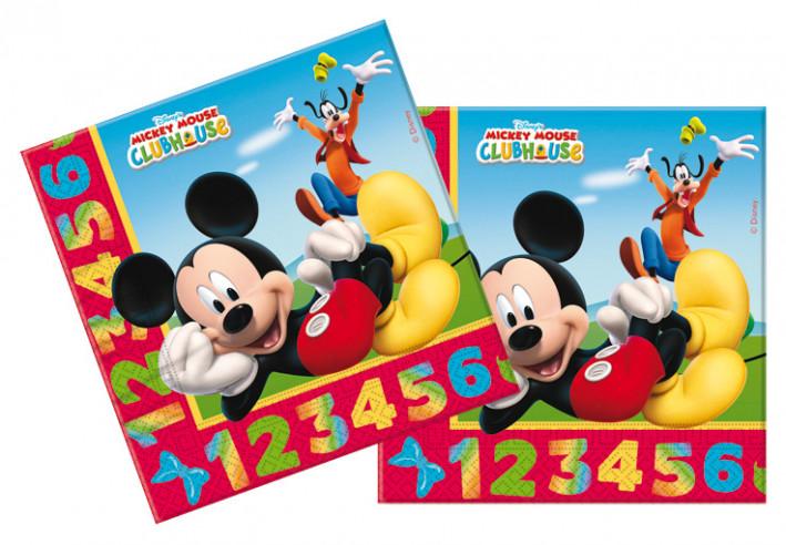 20 servilletas Cumpleaños Mickey Numeros