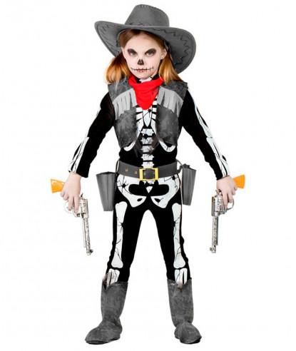 Disfraz vaquera esqueleto niña