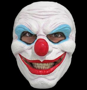 Máscara de payaso diabólico