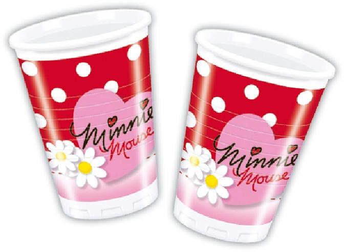 8 vasos cumpleaños Minnie